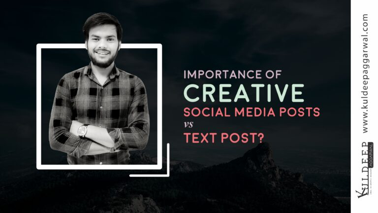 Importance of Creative social media posts vs Text Post